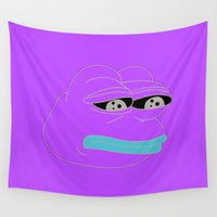 rare Wall Tapestries featuring Super Rare Pepe The Frog!  by anthonykun
