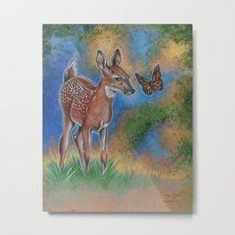 Bambi Butterfly Metal Print