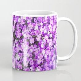 Pretty Purple Flowers, Purple Ground Cover, Beautiful Flowers Coffee Mug