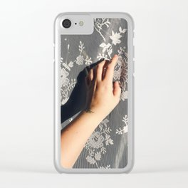 Skin and Lace Clear iPhone Case