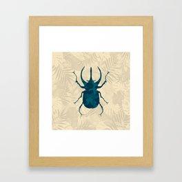 Original Camouflage Pattern Scarab Beetle Framed Art Print