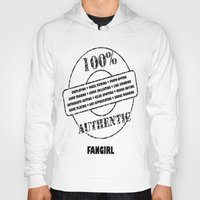 fangirl Hoodies featuring Authentic Fangirl by Off The Path Creative
