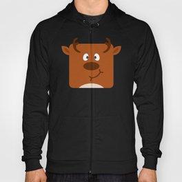 Cute Square Cartoon Reindeer Hoody