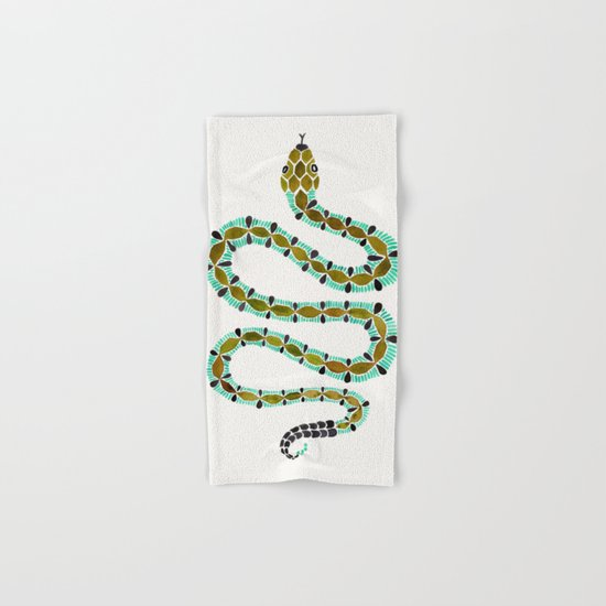 Turquoise Serpent Hand & Bath Towel