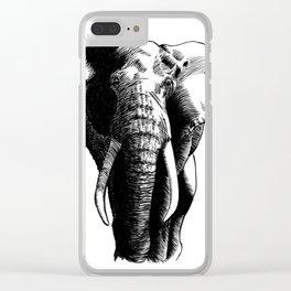 African bush elephant Clear iPhone Case