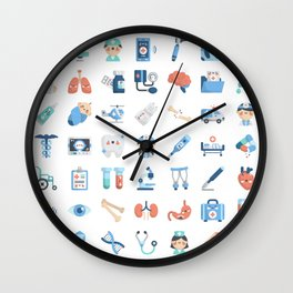 CUTE MEDICINE / SCIENCE / DOCTOR PATTERN Wall Clock