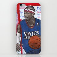 nba iPhone & iPod Skins featuring NBA PLAYERS - Allen Iverson by Ibbanez