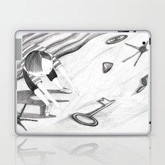 a key on the beach Laptop & iPad Skin