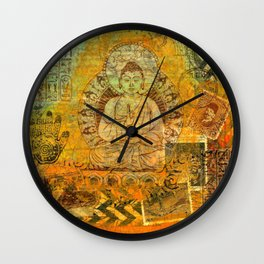Floating Buddha Wall Clock