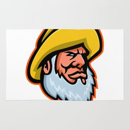 Old Fisherman or Fisher Mascot Rug
