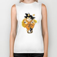 goku Biker Tanks featuring Goku by Ana del Valle Store