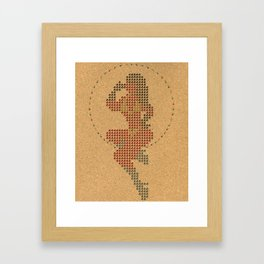 Push Pin Up Framed Art Print