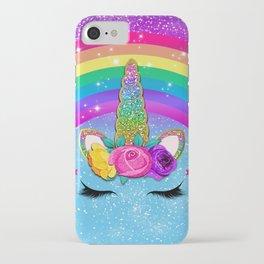 Rainbow Sparkle Unicorn iPhone Case