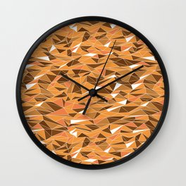 Geometric Desert Sand Dunes Wall Clock