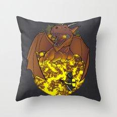 The Fire. Throw Pillow