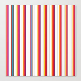 Colorful Stripes Barcode 80s Canvas Print