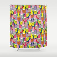 gnome Shower Curtains featuring Mister Gnome by Lydia Meiying