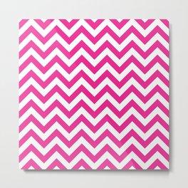 Chevron pattern / deep pink Metal Print