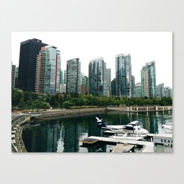 Vancouver glass buildings Canvas Print