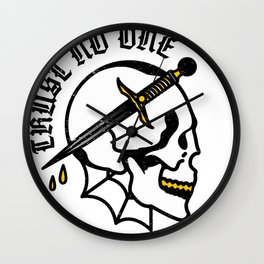 Trust No One Wall Clock