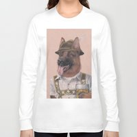 german Long Sleeve T-shirts featuring German Shepherd by Rachel Waterman