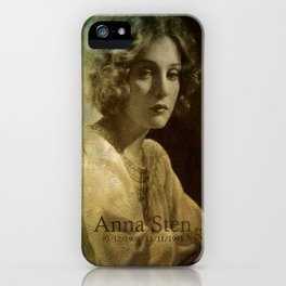 Anna Sten iPhone Case
