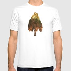 Glittering forest Mens Fitted Tee White MEDIUM