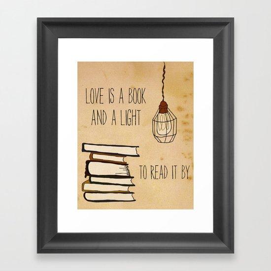 Love Is A Book Framed Art Print