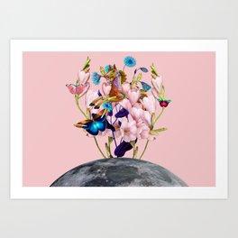 Moon Horse #collage Art Print