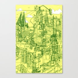 San Francisco! (Yellow) Canvas Print