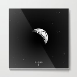 MIMAS - The Real Death Star Metal Print