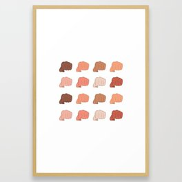 Female Power Pattern Version 1 Framed Art Print