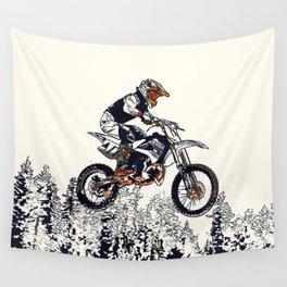 """""""High Flyer"""" Motocross Racer Wall Tapestry"""