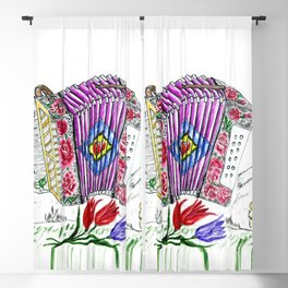 Decorative accordion Blackout Curtain