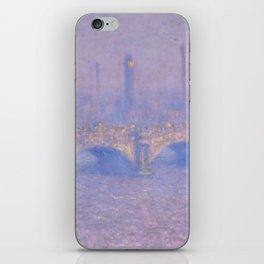 "Claude Monet ""Waterloo Bridge, Effect of Sun"" iPhone Skin"