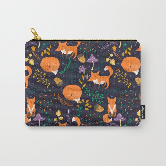 Foxes in magic forest Carry-All Pouch