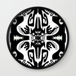 Black + white mirror Wall Clock