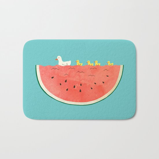 duckies and watermelon Bath Mat