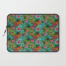Pattern kitties and flowers Laptop Sleeve