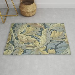 William Morris Acanthus Leaves Floral Art Nouveau Rug