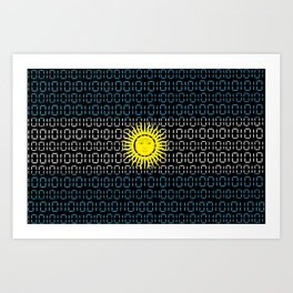 digital Flag (Argentina) Art Print