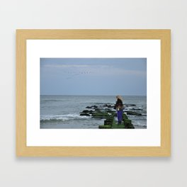Across the Sea Framed Art Print