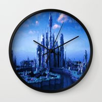 stargate Wall Clocks featuring The lost city by Samy