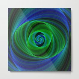 Green blue infinity Metal Print