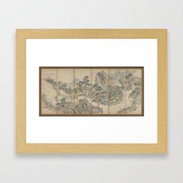 Orchid Pavilion Gathering; Autumn Landscape , Ike Taiga (Japanese, 1723–1776) Framed Art Print