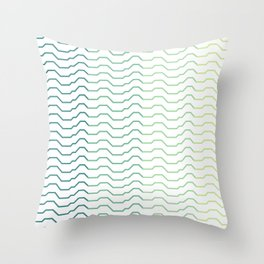 Ombre Waves Throw Pillow