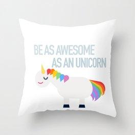Awesome Unicorn Throw Pillow