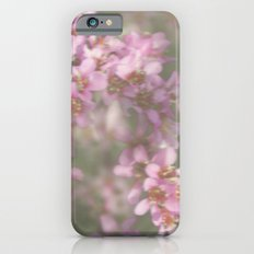 Abstract Pink and Green Flowers iPhone 6s Slim Case