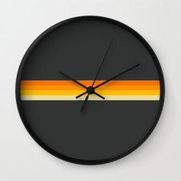 Classic Retro Stripes Cihuateteo Wall Clock
