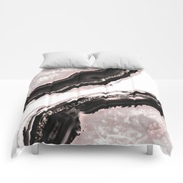 Agate Glitter Glam #4 #gem #decor #art #society6 Comforters